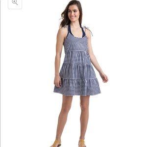 Vineyard Vines Gingham Tiered Beach Dress M